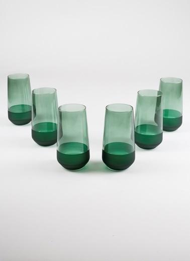 Rakle 470 cc Matte 6'lı Meşrubat Bardağı Seti Yeşil Yeşil